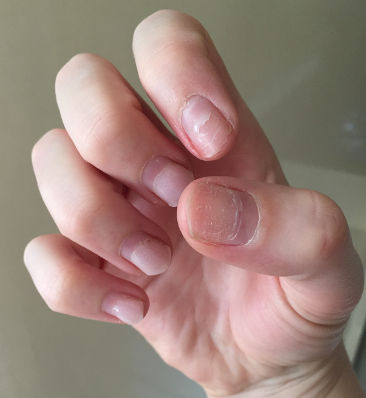 Glue residue on nails