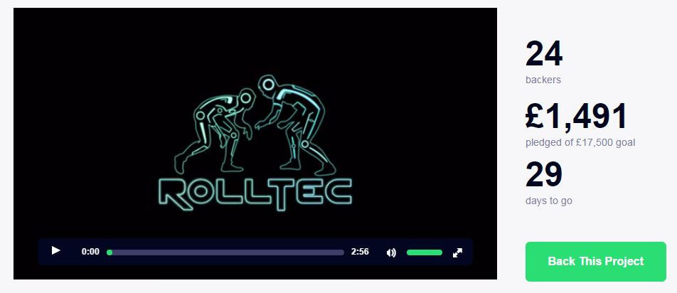 Screenshot RollTech Rashguard Kickstarter page day 1
