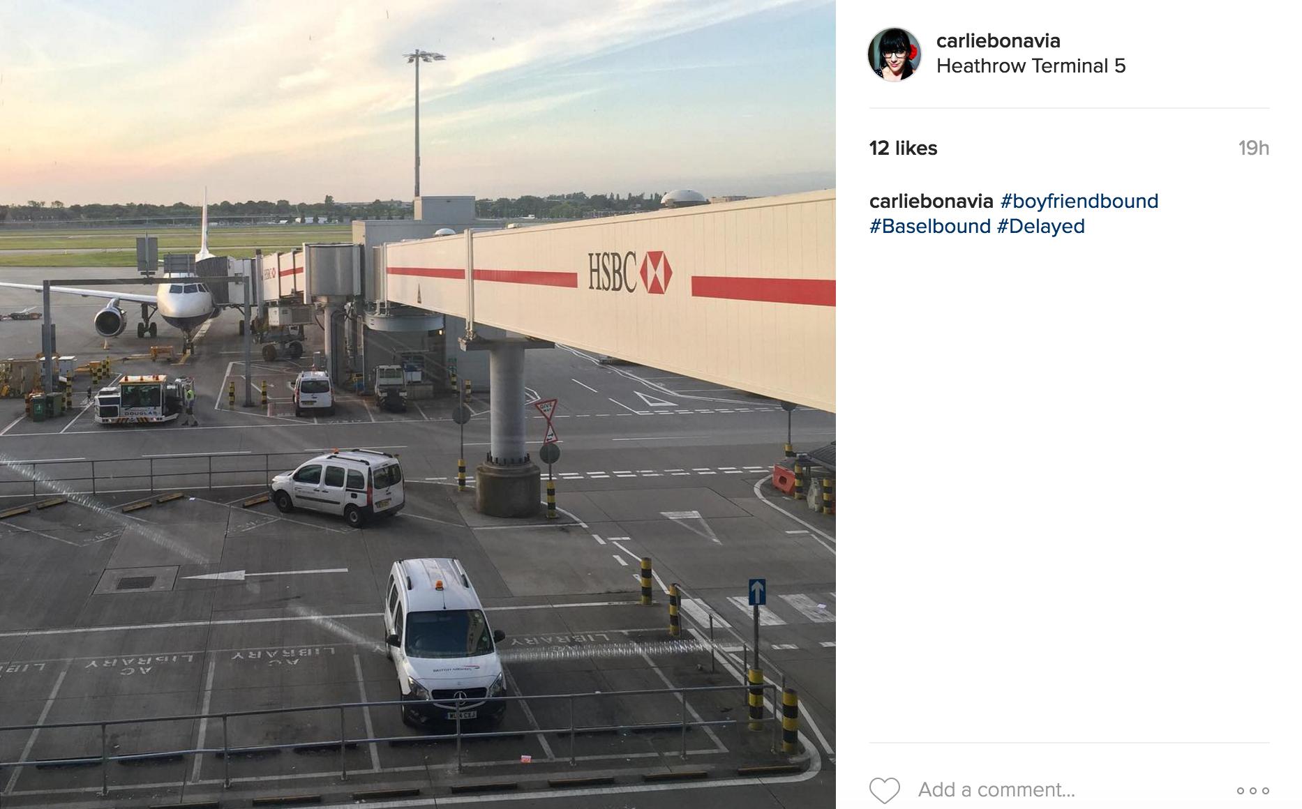 British Airways flight ready to board at Heathrow Airport